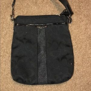 Used once black coach satchel